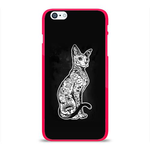 Чехол для Apple iPhone 6Plus/6SPlus силиконовый глянцевый cat Фото 01