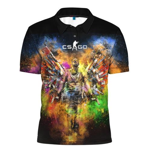 Мужская рубашка поло 3D  Фото 01, CS GO