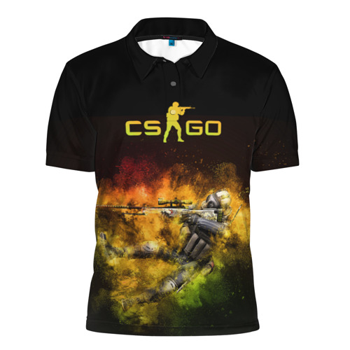 Мужская рубашка поло 3D  Фото 01, Counter-Strike