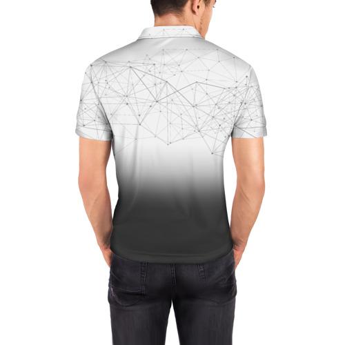 Мужская рубашка поло 3D  Фото 04, Хаски Geometry