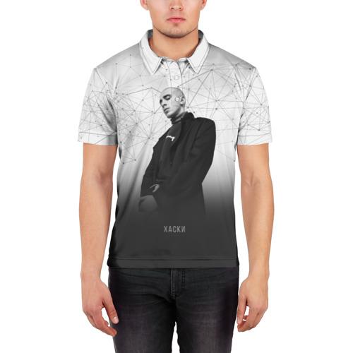 Мужская рубашка поло 3D  Фото 03, Хаски Geometry