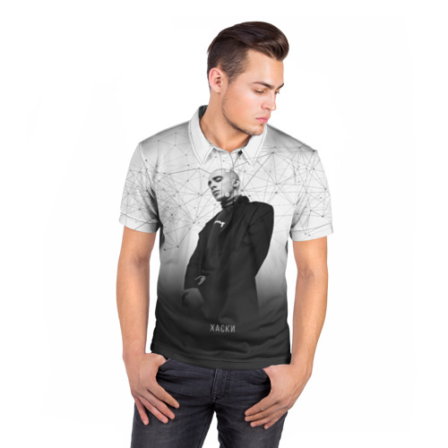 Мужская рубашка поло 3D  Фото 05, Хаски Geometry
