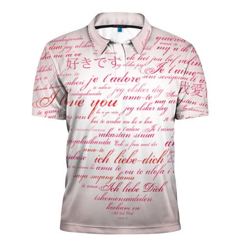 Мужская рубашка поло 3D  Фото 01, Love Valentine