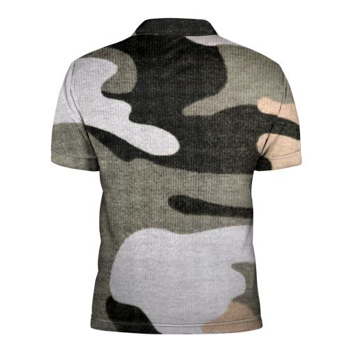 Мужская рубашка поло 3D  Фото 02, Хакки цвет