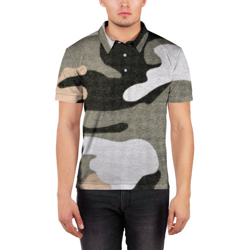 Мужская рубашка поло 3D  Фото 03, Хакки цвет