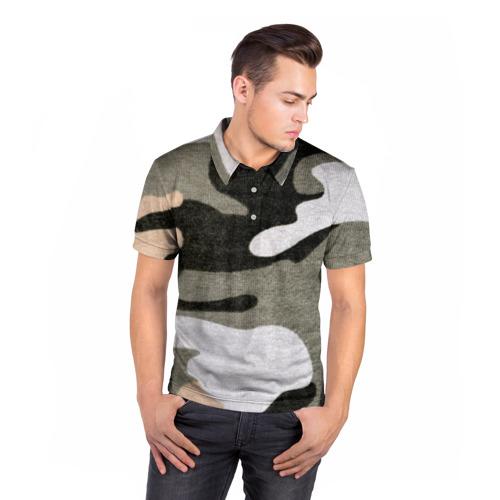 Мужская рубашка поло 3D  Фото 05, Хакки цвет