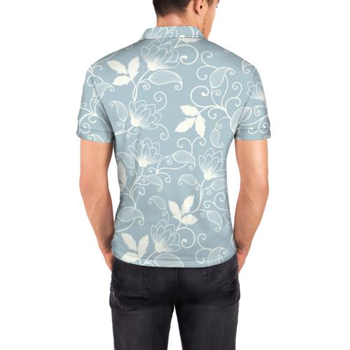 Мужская рубашка поло 3D  Фото 04, Цветочный узор