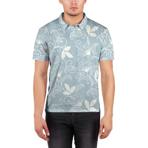 Мужская рубашка поло 3D  Фото 03, Цветочный узор