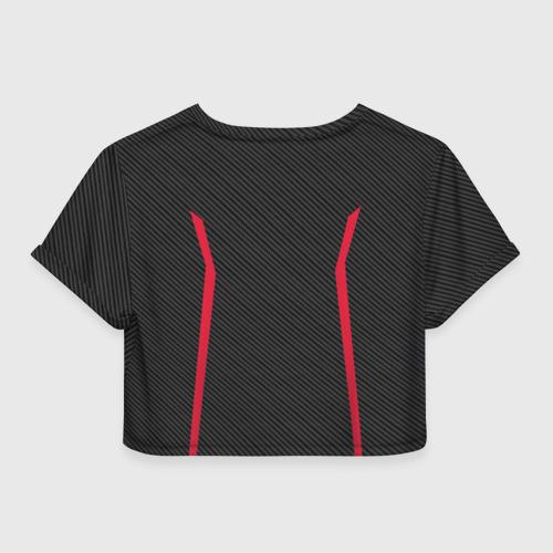 Женская футболка 3D укороченная  Фото 02, AUDI  SPORT CARBON