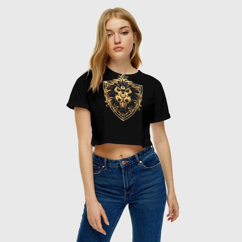 Женская футболка 3D укороченная  Фото 04, Альянс