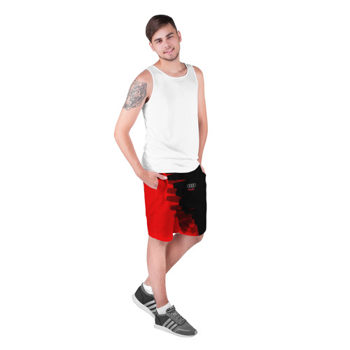 Мужские шорты 3D AUDI  SPORT    Фото 01