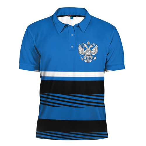 Мужская рубашка поло 3D  Фото 01, Герб РФ