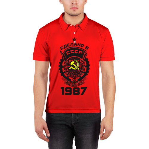Мужская рубашка поло 3D  Фото 03, Сделано в СССР 1987