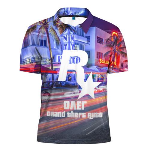 Мужская рубашка поло 3D  Фото 01, Олег в стиле GTA