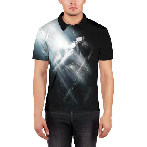 Мужская рубашка поло 3D  Фото 03, Metro 2033