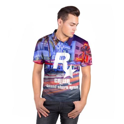 Мужская рубашка поло 3D  Фото 05, Саша в стиле GTA