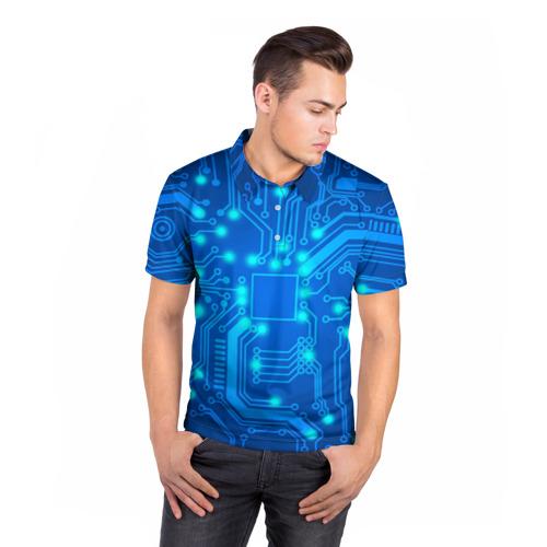 Мужская рубашка поло 3D  Фото 05, Плата