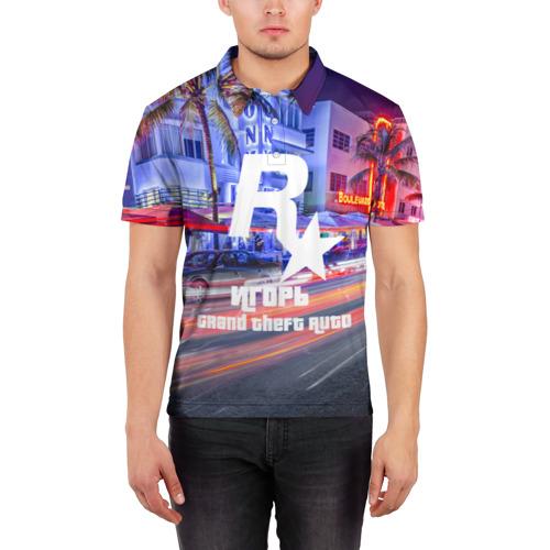 Мужская рубашка поло 3D  Фото 03, Игорь в стиле GTA