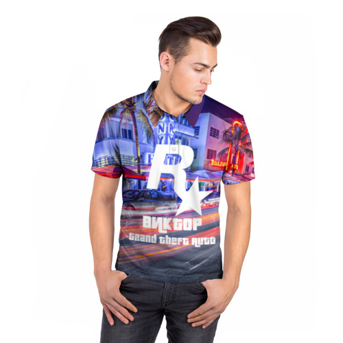 Мужская рубашка поло 3D  Фото 05, Виктор в стиле GTA