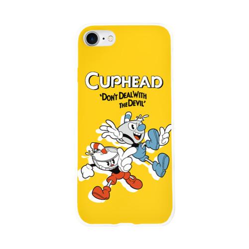 Чехол для Apple iPhone 8 силиконовый глянцевый  Фото 01, Cuphead