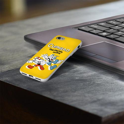 Чехол для Apple iPhone 8 силиконовый глянцевый  Фото 03, Cuphead