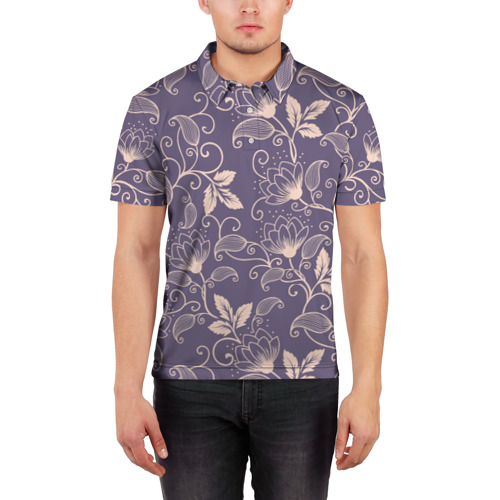 Мужская рубашка поло 3D  Фото 03, Естественный стиль