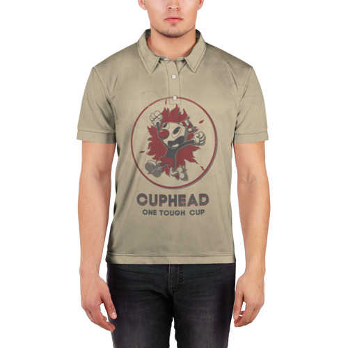 Мужская рубашка поло 3D  Фото 03, Cuphead