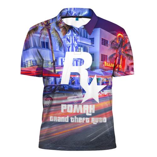 Мужская рубашка поло 3D  Фото 01, Роман в стиле GTA