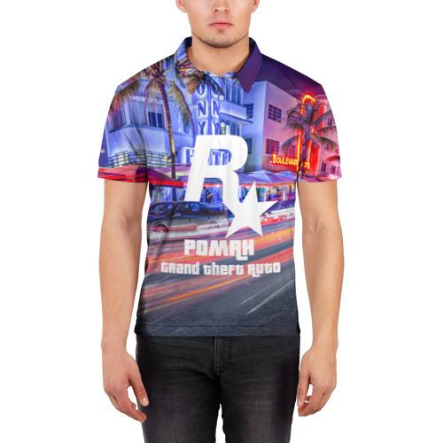 Мужская рубашка поло 3D  Фото 03, Роман в стиле GTA