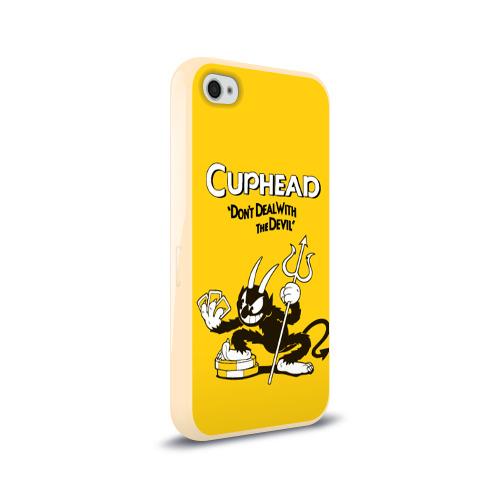 Чехол для Apple iPhone 4/4S силиконовый глянцевый Cuphead Фото 01