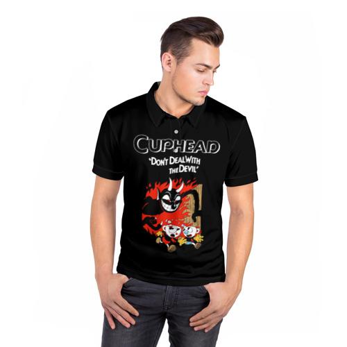 Мужская рубашка поло 3D  Фото 05, Cuphead