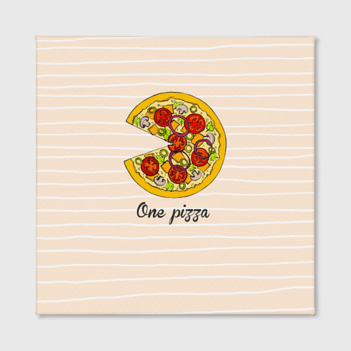 Холст квадратный  Фото 02, One love, One pizza