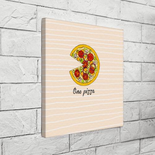 Холст квадратный  Фото 03, One love, One pizza