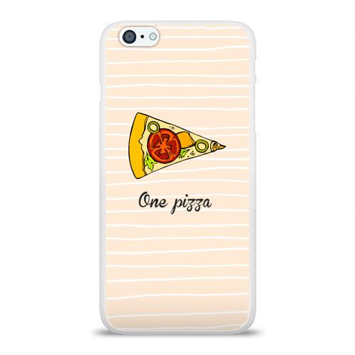 Чехол для Apple iPhone 6Plus/6SPlus силиконовый глянцевый  Фото 01, One Love, One Pizza