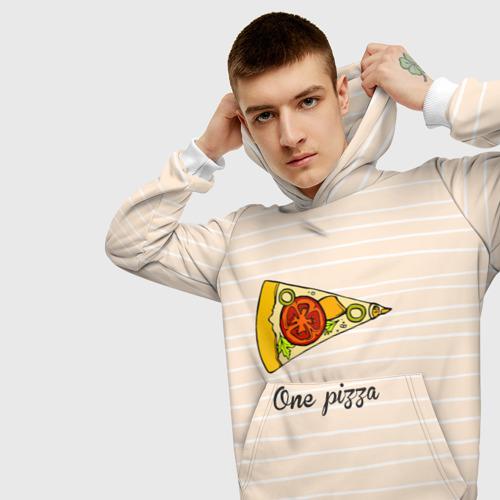 Мужская толстовка 3D  Фото 01, One Love, One Pizza