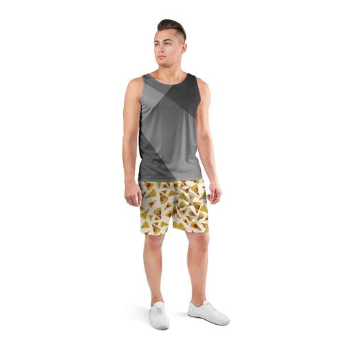 Мужские шорты 3D спортивные  Фото 04, Pizza love