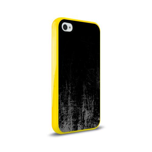Чехол для Apple iPhone 4/4S силиконовый глянцевый Black Grunge Фото 01