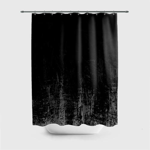 Штора 3D для ванной Black Grunge Фото 01