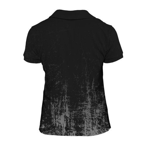 Женская рубашка поло 3D Black Grunge Фото 01