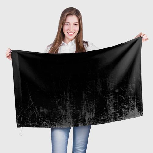 Флаг 3D Black Grunge Фото 01