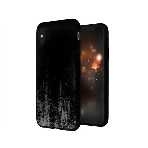 Чехол для Apple iPhone X силиконовый глянцевый Black Grunge Фото 01
