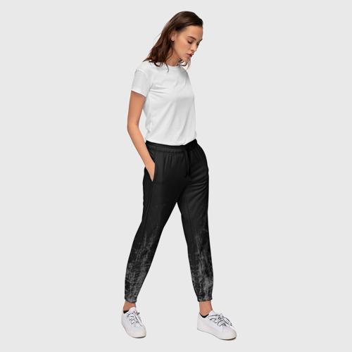 Женские брюки 3D Black Grunge Фото 01