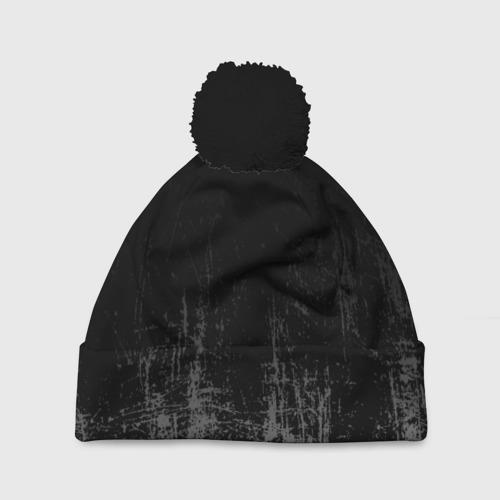 Шапка 3D c помпоном Black Grunge