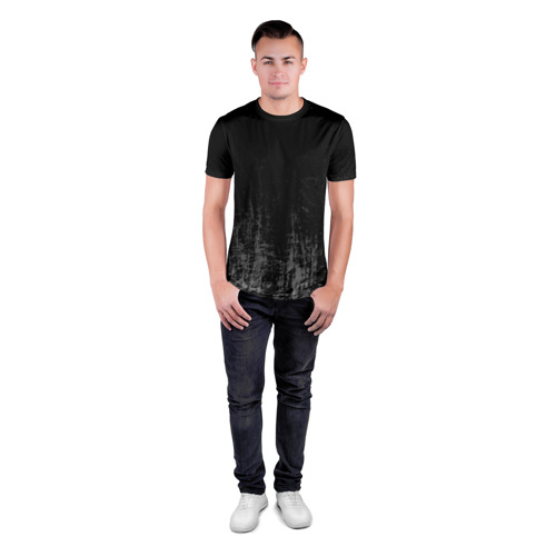 Мужская футболка 3D спортивная Black Grunge Фото 01