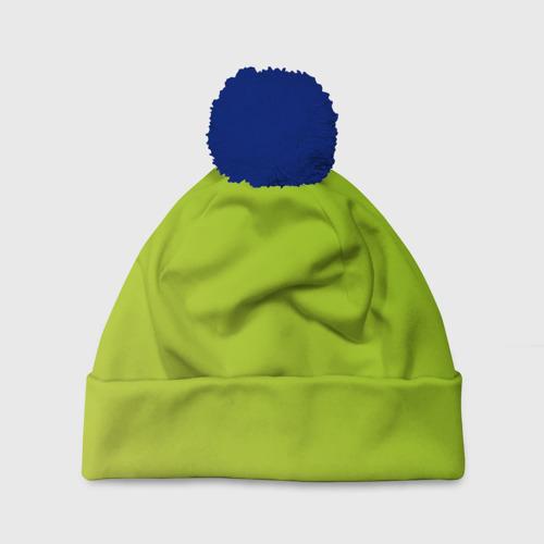 Шапка 3D c помпоном Lime Green