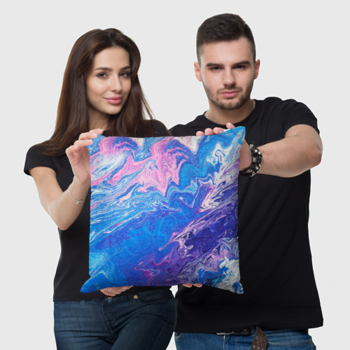 Подушка 3D  Фото 03, Жидкие краски