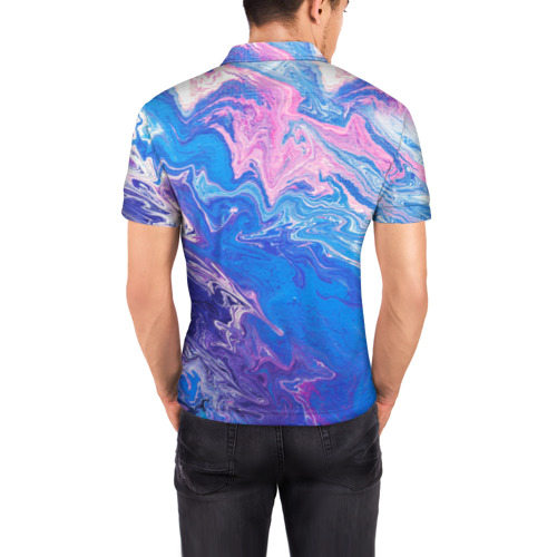Мужская рубашка поло 3D  Фото 04, Жидкие краски