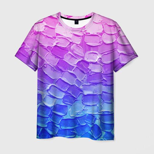 Мужская футболка 3D Необычные краски