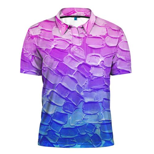 Мужская рубашка поло 3D  Фото 01, Необычные краски