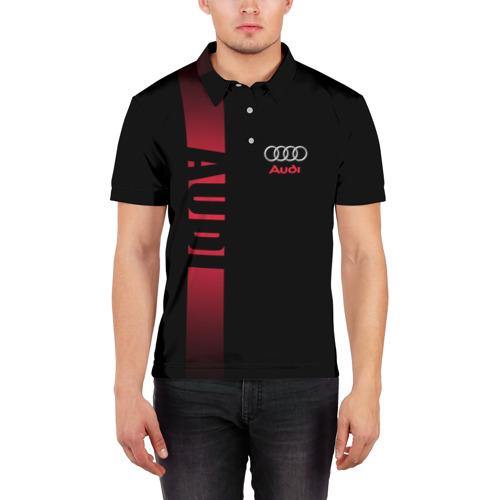 Мужская рубашка поло 3D  Фото 03, AUDI SPORT